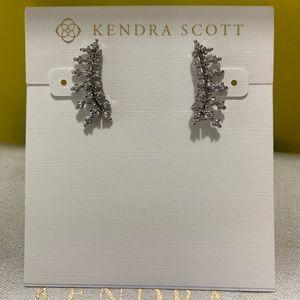 New Kendra Scott Silver Laurie Climbers Earrings
